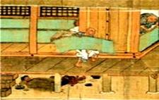 うえに畳の上に寝ていた僧侶